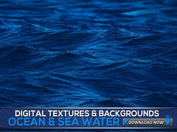 pure blue colored water texture
