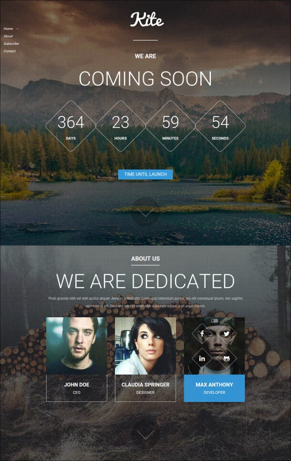 kite html website template