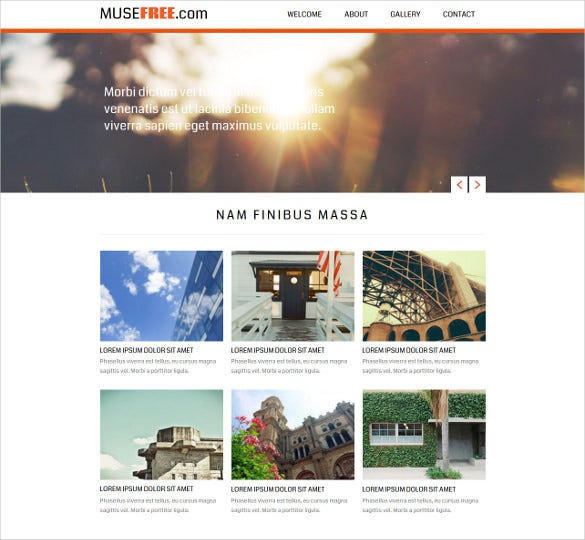free website design muse theme