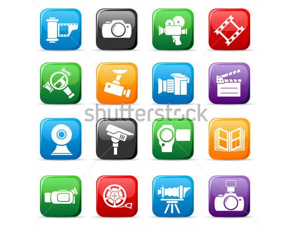 coloured camera icons download