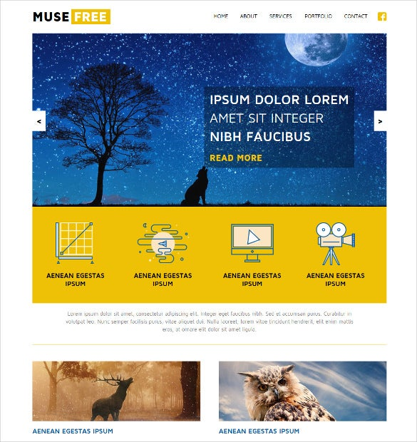 21 free muse themes templates free premium templates free adobe muse theme pronofoot35fo Image collections