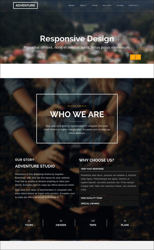 adventure html css website template