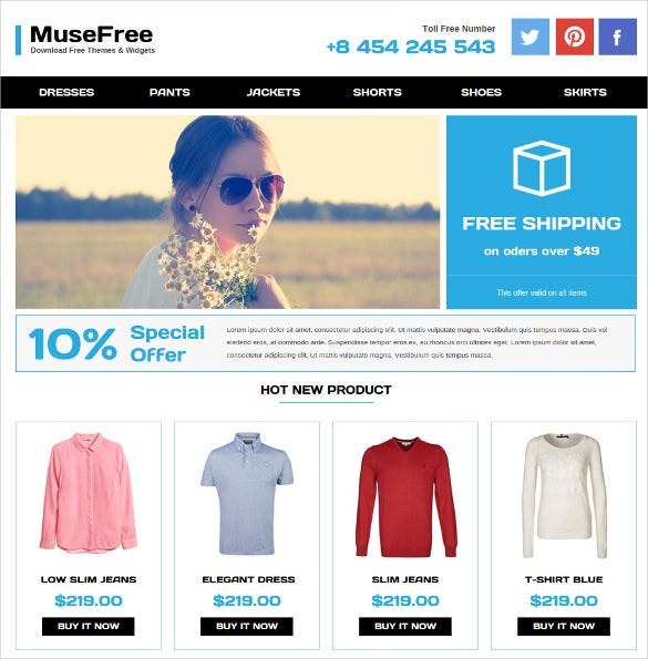 free special adobe muse theme