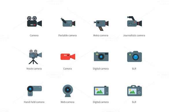 digital camera icons download