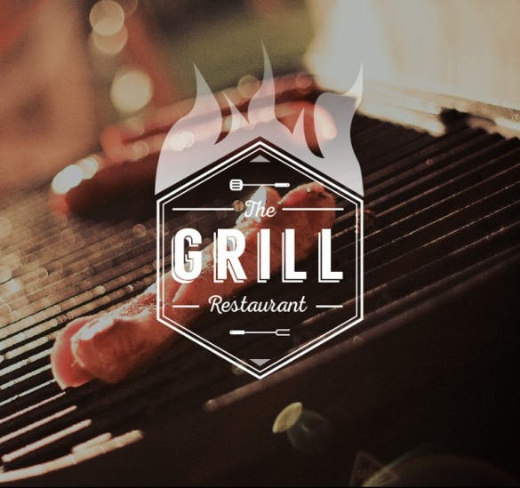 grill restaurant logo download