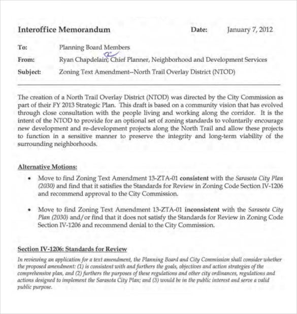 pdf template for interoffice memo