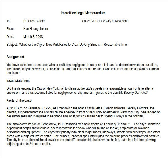 interoffice leagal memo word document download