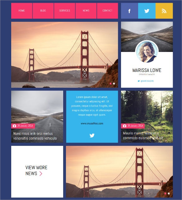 free design muse template