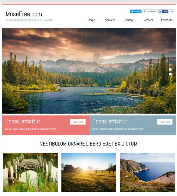 21+ Free Muse Themes & Templates | Free & Premium Templates