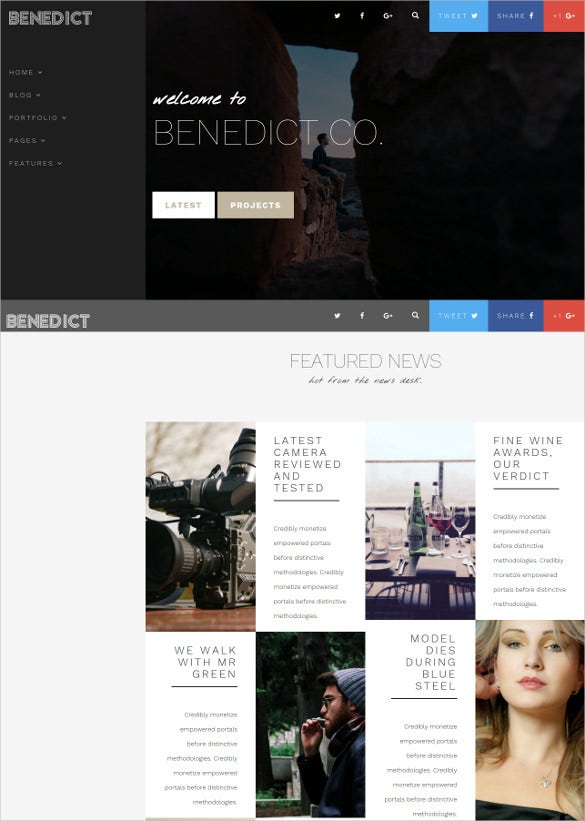 creative blog portfolio html template
