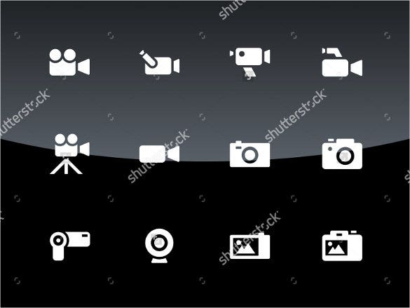 black and white camera icons download