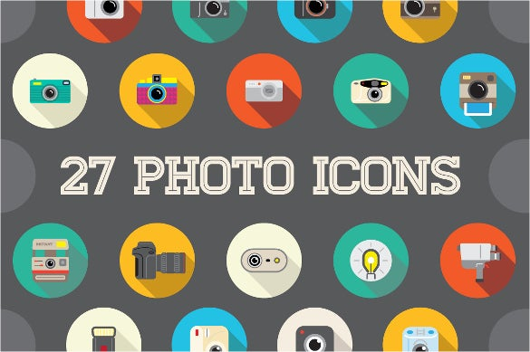 27 camera icons bundle