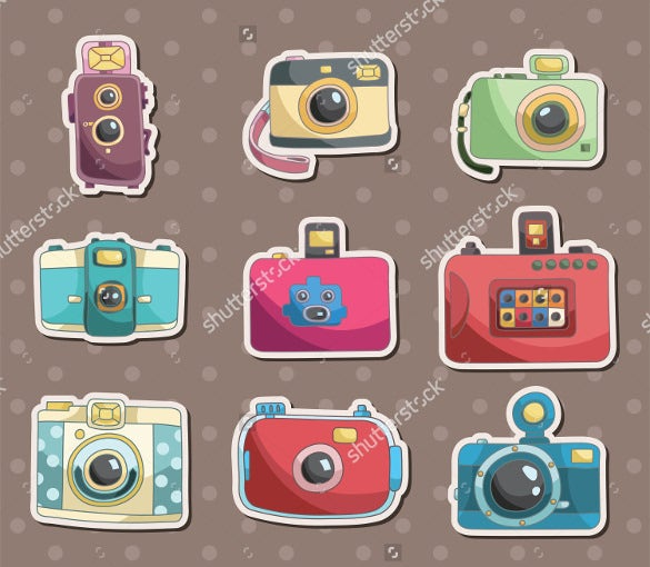 multimedia camera icons bundle
