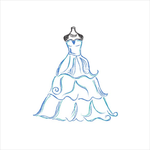 wedding dress patterns � 21 free eps ai illustration