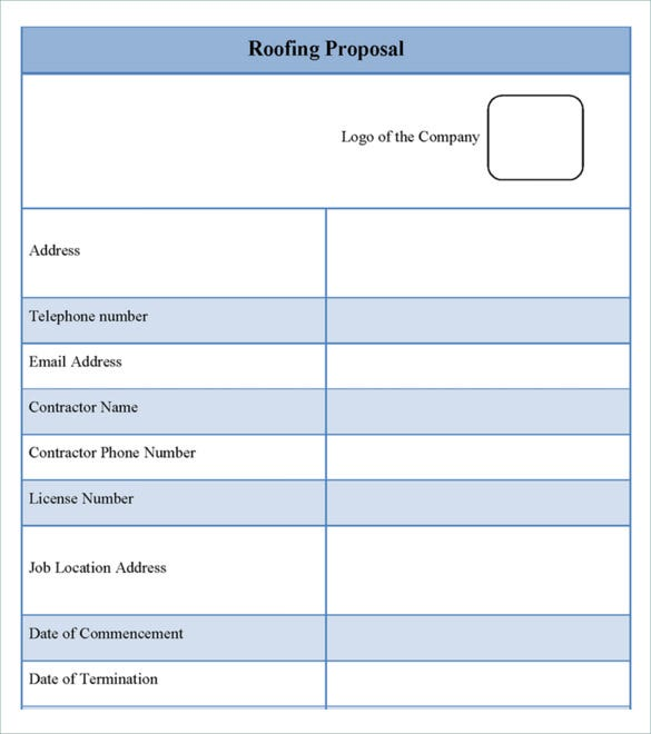 roofing bid template