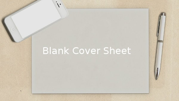blank cover sheet  u2013 10  free word  pdf documents download