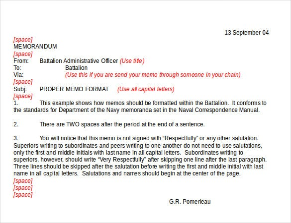 Formal Memorandum Template Sample Formal Memorandum Format Free