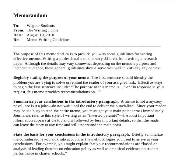 Business Memos Writing PDF Template With Business Memorandum Template