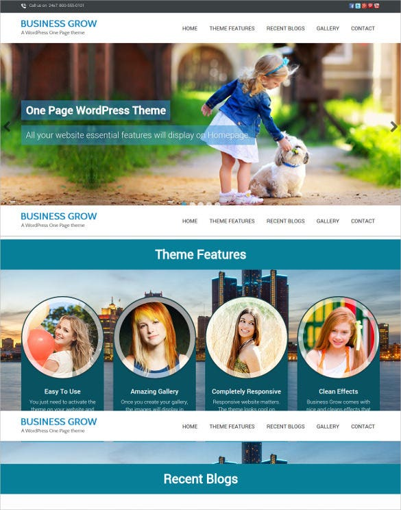 38 one page website themes templates free premium templates beautiful one page business website template friedricerecipe Gallery