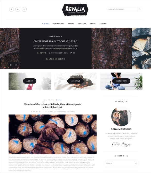 responsive personal html blog website theme