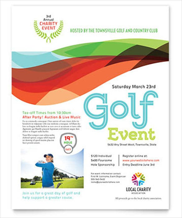 Charity Golf Event Flyer In Word Format  Free Word Flyer Template
