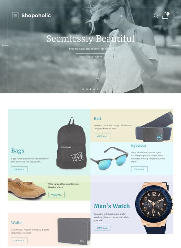 ecommerce online shoping website template