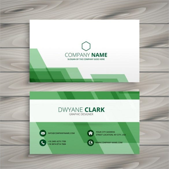 Cheap business cards 25 free psd ai vector eps format download abstract green business card free vector free download reheart Gallery
