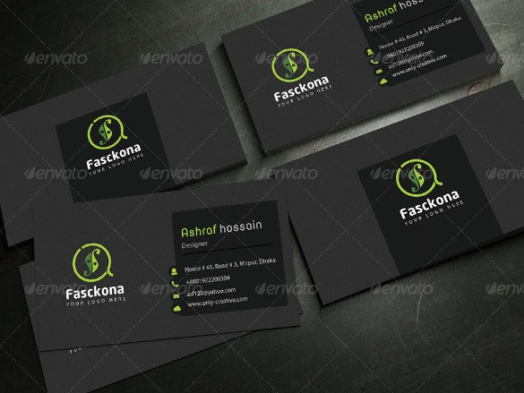 creative business card psd download