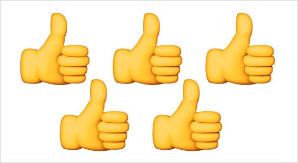 thumbs up emoji sign on apple
