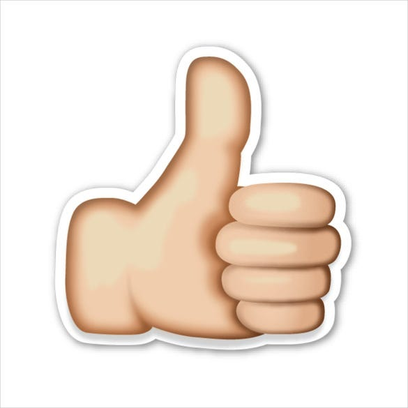 thumbs up sign emojis sticker download