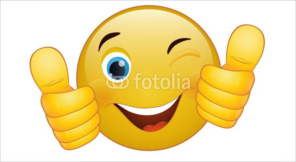 thumb up emoticon yellow cartoon sign facial expression