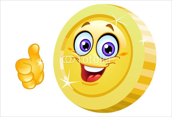 thumb up coin emoji download