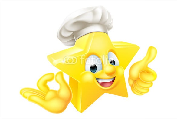 star chef mascot thumbs up emoji download