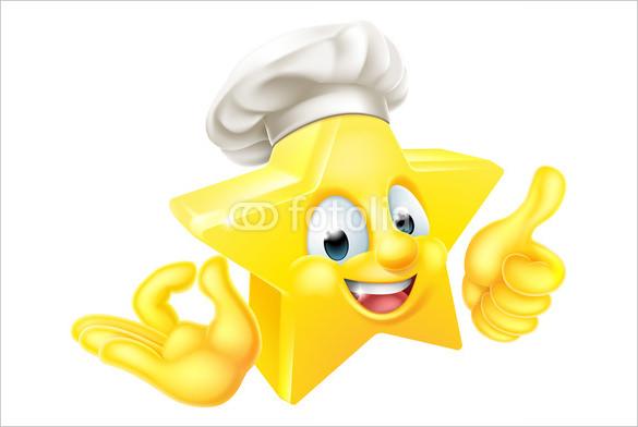star chef mascot thumbs up emoji download