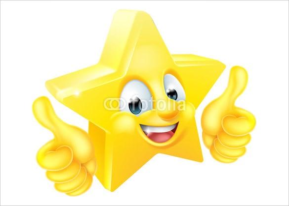 star cartoon mascot giving thumbs up emoji download