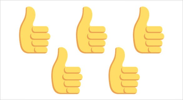 free download thumbs up sign on emoji one