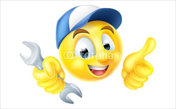 mechanic plumber spanner thumbs up emoticon emoji