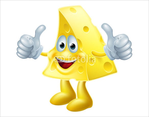 happy cartoon cheese man thumbs up emoji