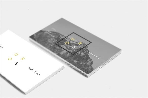 modern siple business card ready for download