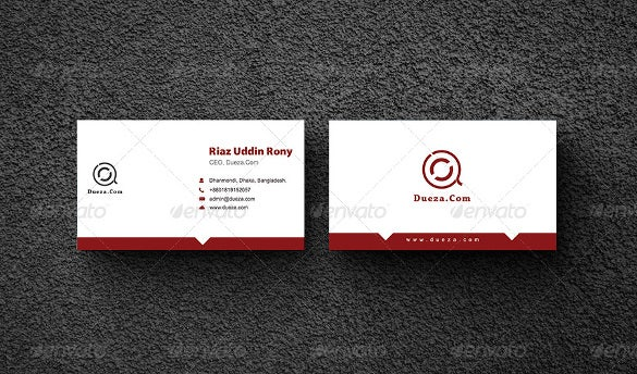 white read business card psd download