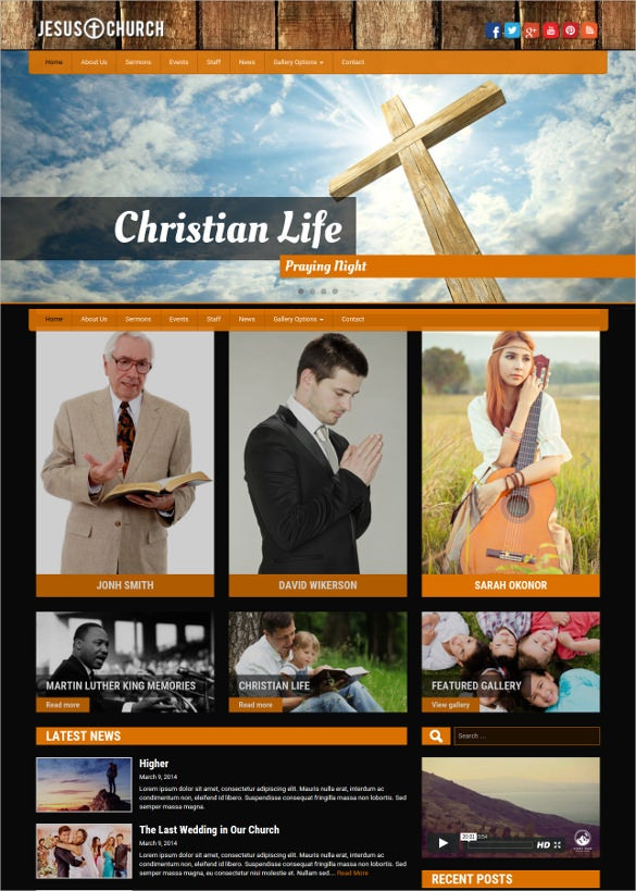 jesus church wordpress website theme