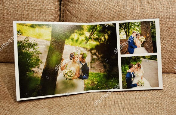 digital wedding album design template
