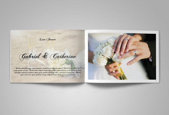 luxury wedding album template download