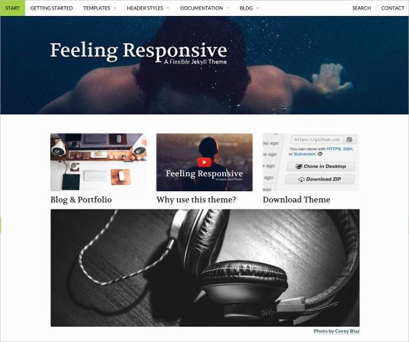 responsivejekyll theme