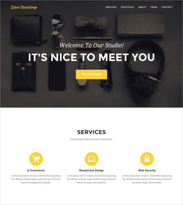 Portfolio Agency Website Template