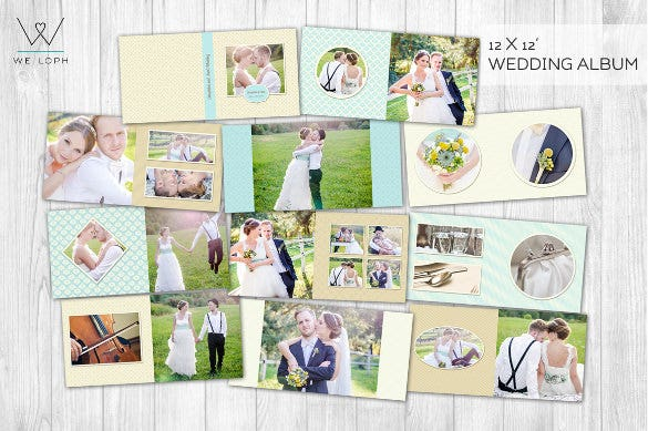 wedding album with multiple sheets