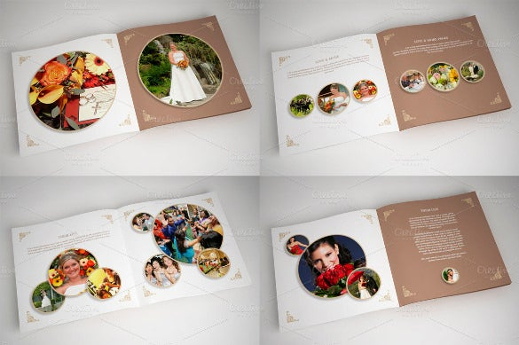 wedding album template instant download