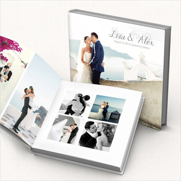 ready to print wedding album template