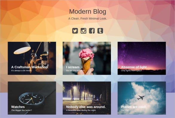 modern blog jekyll theme