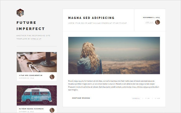 future impact portfolio html5 website template